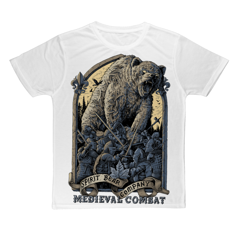 Spirit Bear Company - Medieval Combat Classic Sublimation Adult T-Shirt - Xs - Apparel Apparel Spiritbear