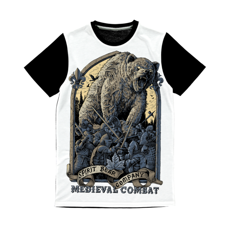 Spirit Bear Company - Medieval Combat Classic Sublimation Panel T-Shirt - Xs - Apparel Apparel