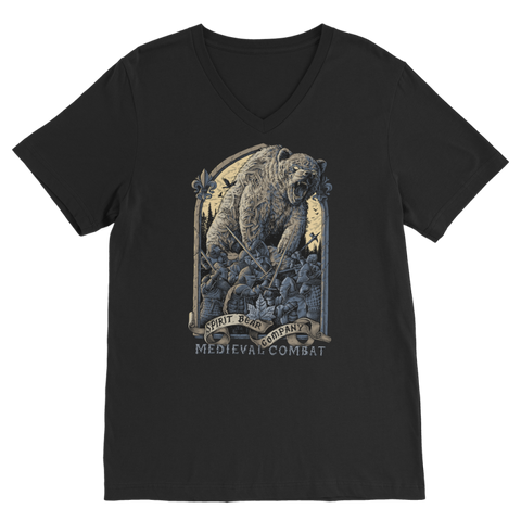 Image of Spirit Bear Company - Medieval Combat Classic V-Neck T-Shirt - Black / Unisex / S - Apparel Apparel Spiritbear