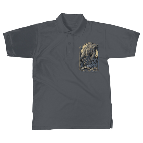 Image of Spirit Bear Company - Medieval Combat Classic Womens Polo Shirt - Dark Grey / Unisex / S - Apparel Apparel