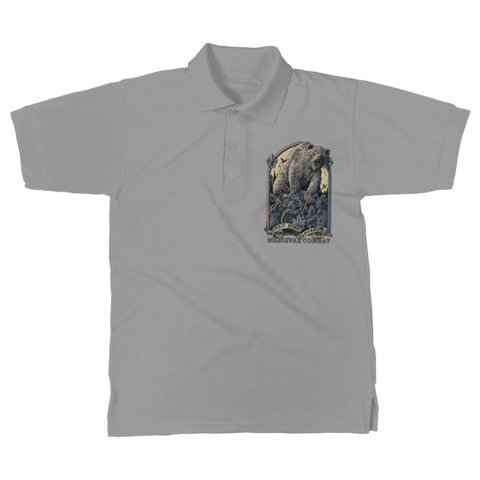 Image of Spirit Bear Company - Medieval Combat Classic Womens Polo Shirt - Light Grey / Unisex / S - Apparel Apparel