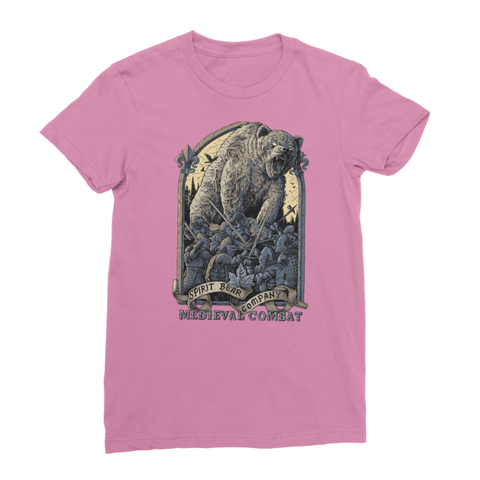 Image of Spirit Bear Company - Medieval Combat Classic Womens T-Shirt - Azalea / Female / S - Apparel Apparel