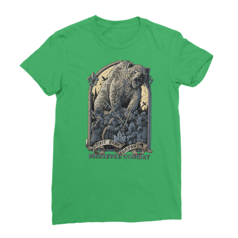 Image of Spirit Bear Company - Medieval Combat Classic Womens T-Shirt - Irish Green / Female / S - Apparel Apparel