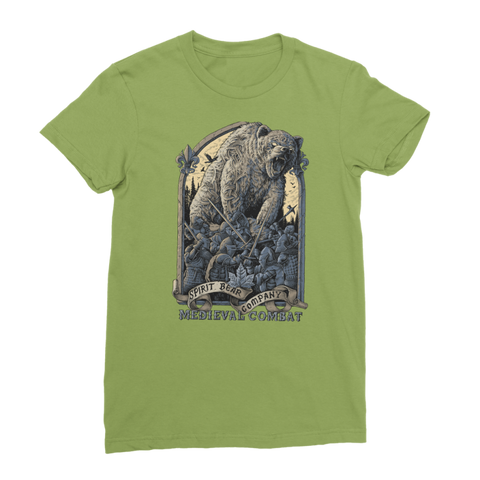 Image of Spirit Bear Company - Medieval Combat Classic Womens T-Shirt - Kiwi / Female / S - Apparel Apparel