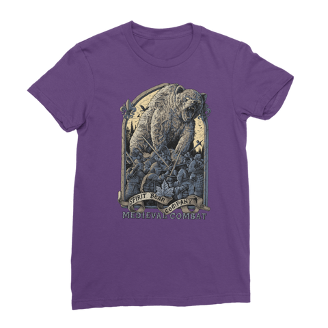 Spirit Bear Company - Medieval Combat Classic Womens T-Shirt - Purple / Female / S - Apparel Apparel