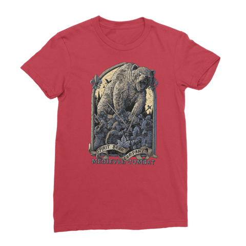 Spirit Bear Company - Medieval Combat Classic Womens T-Shirt - Red / Female / S - Apparel Apparel