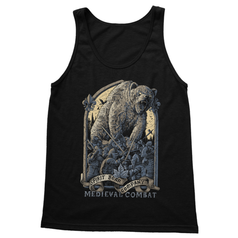 Spirit Bear Company - Medieval Combat Classic Womens Tank Top - Black / S - Apparel Apparel