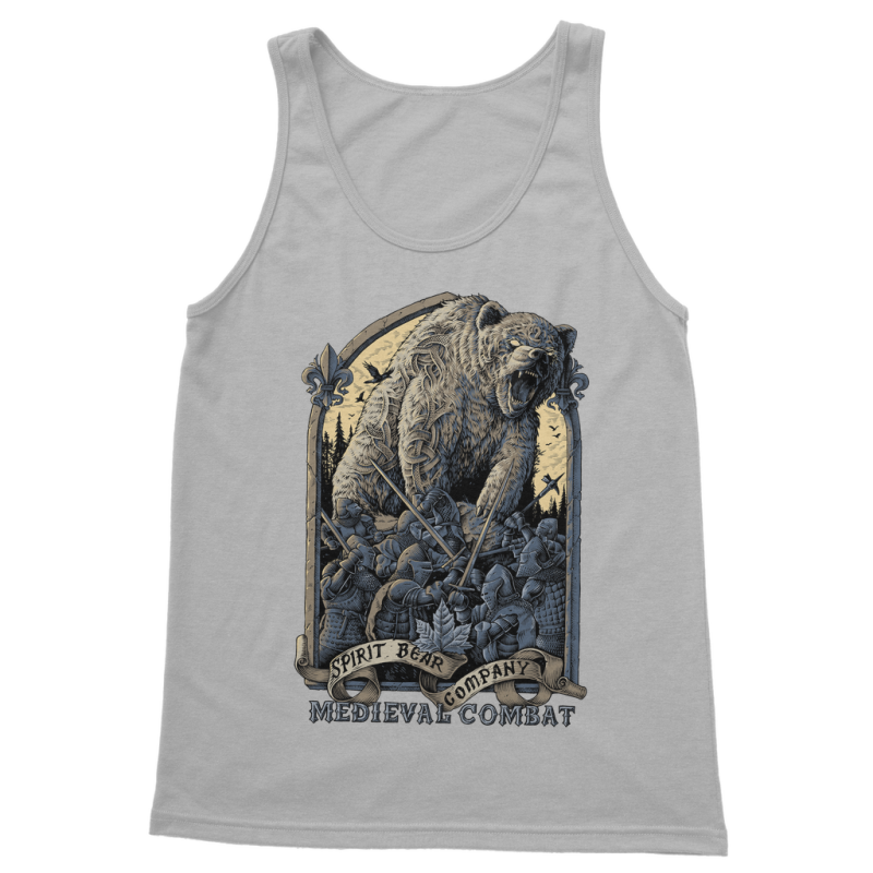 Spirit Bear Company - Medieval Combat Classic Womens Tank Top - Light Grey / S - Apparel Apparel