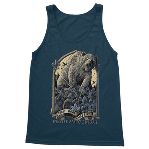 Spirit Bear Company - Medieval Combat Classic Womens Tank Top - Navy / S - Apparel Apparel