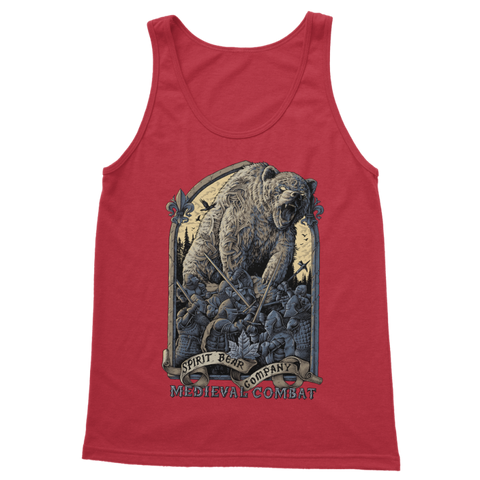 Image of Spirit Bear Company - Medieval Combat Classic Womens Tank Top - Red / S - Apparel Apparel
