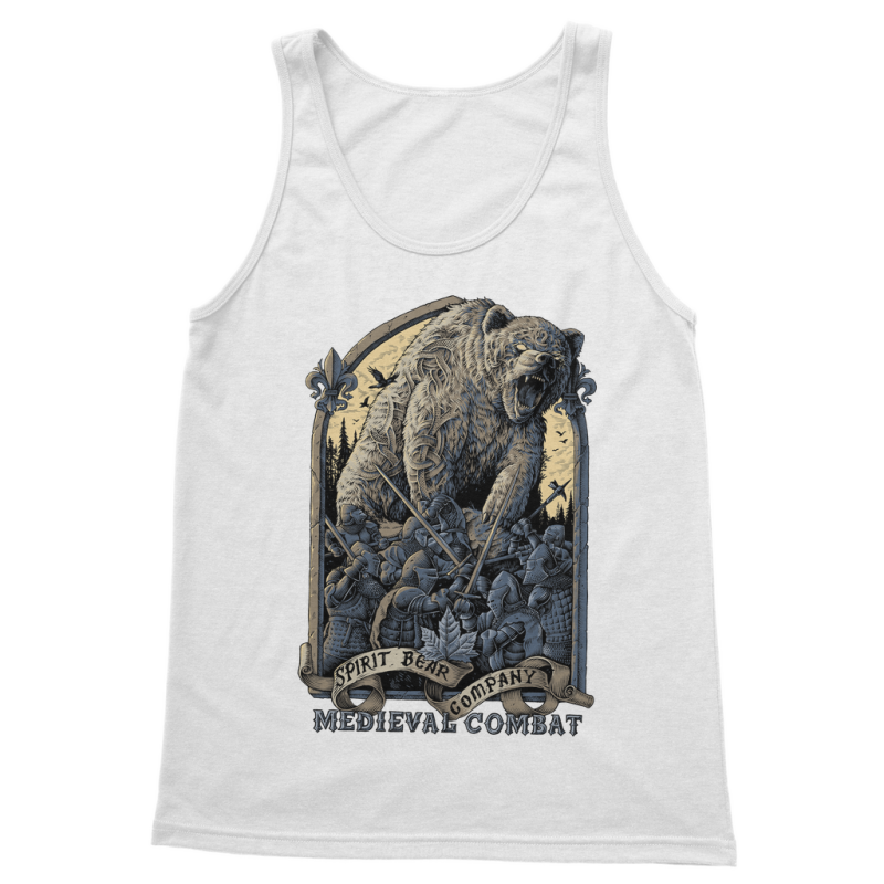 Spirit Bear Company - Medieval Combat Classic Womens Tank Top - White / S - Apparel Apparel