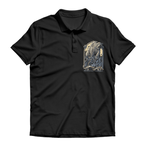Image of Spirit Bear Company - Medieval Combat Premium Adult Polo Shirt - Black / Unisex / S - Apparel Apparel Spiritbear