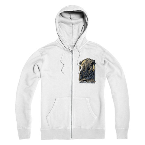 Image of Spirit Bear Company - Medieval Combat Premium Adult Zip Hoodie - White / S - Apparel Apparel Spiritbear