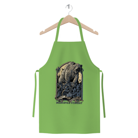 Image of Spirit Bear Company - Medieval Combat Premium Jersey Apron - Light Green - Apparel Apparel