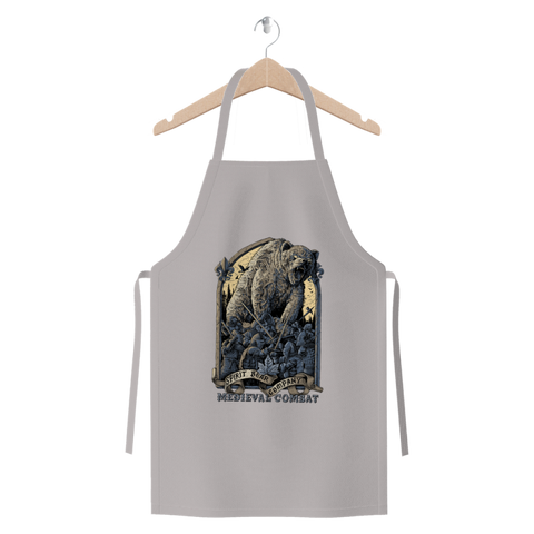 Image of Spirit Bear Company - Medieval Combat Premium Jersey Apron - Light Grey - Apparel Apparel