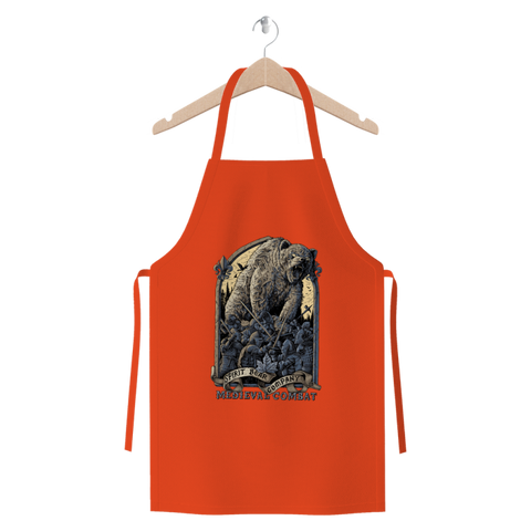 Image of Spirit Bear Company - Medieval Combat Premium Jersey Apron - Orange - Apparel Apparel