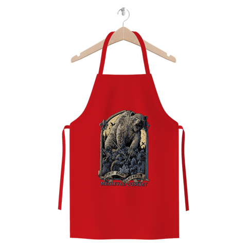 Spirit Bear Company - Medieval Combat Premium Jersey Apron - Red - Apparel Apparel