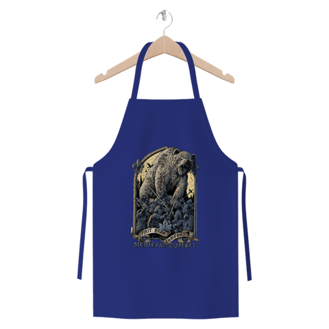 Image of Spirit Bear Company - Medieval Combat Premium Jersey Apron - Royal Blue - Apparel Apparel