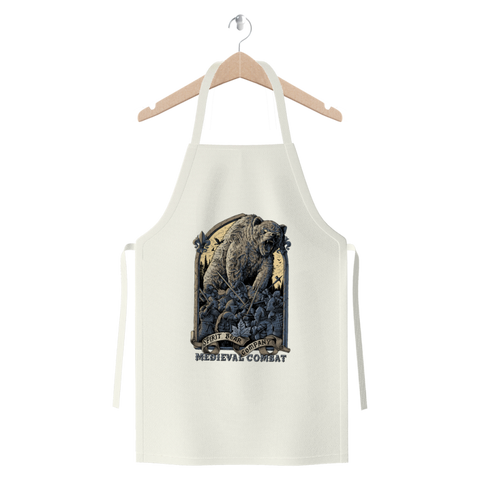 Spirit Bear Company - Medieval Combat Premium Jersey Apron - White - Apparel Apparel