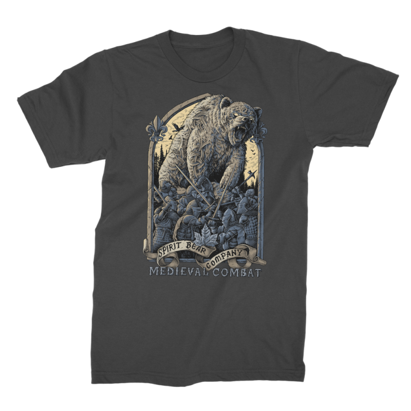 Spirit Bear Company - Medieval Combat Premium Jersey Mens T-Shirt - Black / Male / S - Apparel Apparel