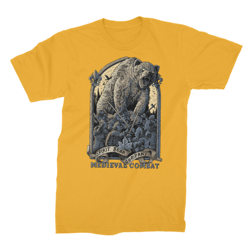 Spirit Bear Company - Medieval Combat Premium Jersey Mens T-Shirt - Gold / Male / S - Apparel Apparel