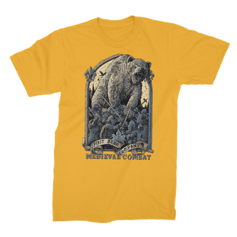 Image of Spirit Bear Company - Medieval Combat Premium Jersey Mens T-Shirt - Gold / Male / S - Apparel Apparel