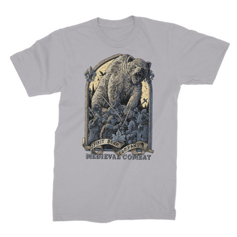 Image of Spirit Bear Company - Medieval Combat Premium Jersey Mens T-Shirt - Light Grey / Male / S - Apparel Apparel