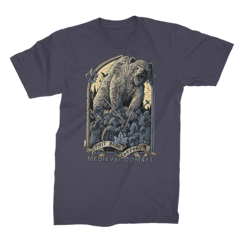 Spirit Bear Company - Medieval Combat Premium Jersey Mens T-Shirt - Navy / Male / S - Apparel Apparel