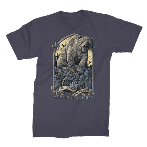 Image of Spirit Bear Company - Medieval Combat Premium Jersey Mens T-Shirt - Navy / Male / S - Apparel Apparel