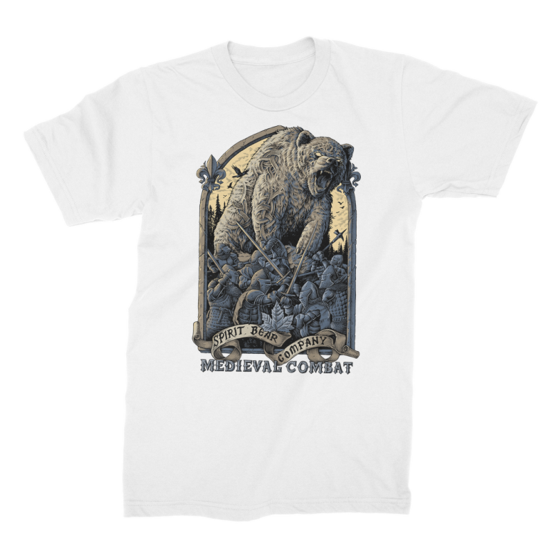 Spirit Bear Company - Medieval Combat Premium Jersey Mens T-Shirt - White / Male / S - Apparel Apparel