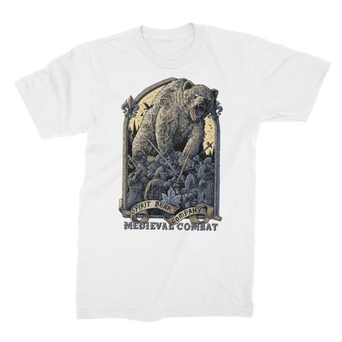 Image of Spirit Bear Company - Medieval Combat Premium Jersey Mens T-Shirt - White / Male / S - Apparel Apparel