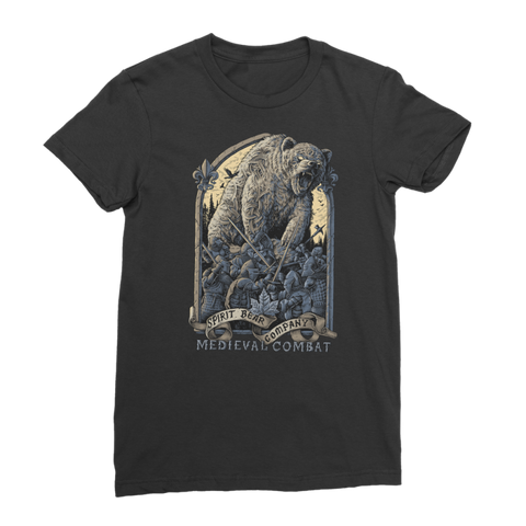 Image of Spirit Bear Company - Medieval Combat Premium Jersey Womens T-Shirt - Black / Female / S - Apparel Apparel