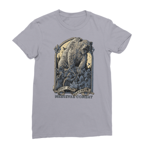 Spirit Bear Company - Medieval Combat Premium Jersey Womens T-Shirt - Light Grey / Female / S - Apparel Apparel