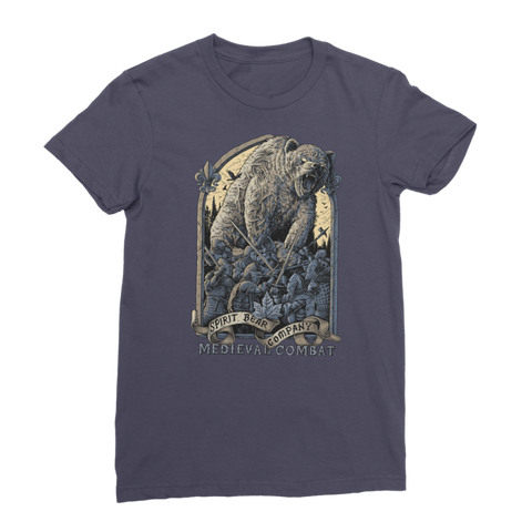 Image of Spirit Bear Company - Medieval Combat Premium Jersey Womens T-Shirt - Navy / Female / S - Apparel Apparel