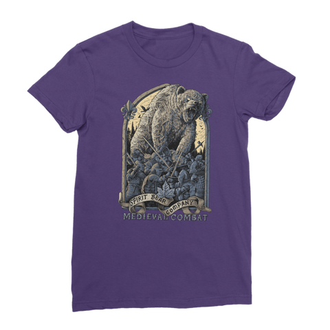 Image of Spirit Bear Company - Medieval Combat Premium Jersey Womens T-Shirt - Purple / Female / S - Apparel Apparel