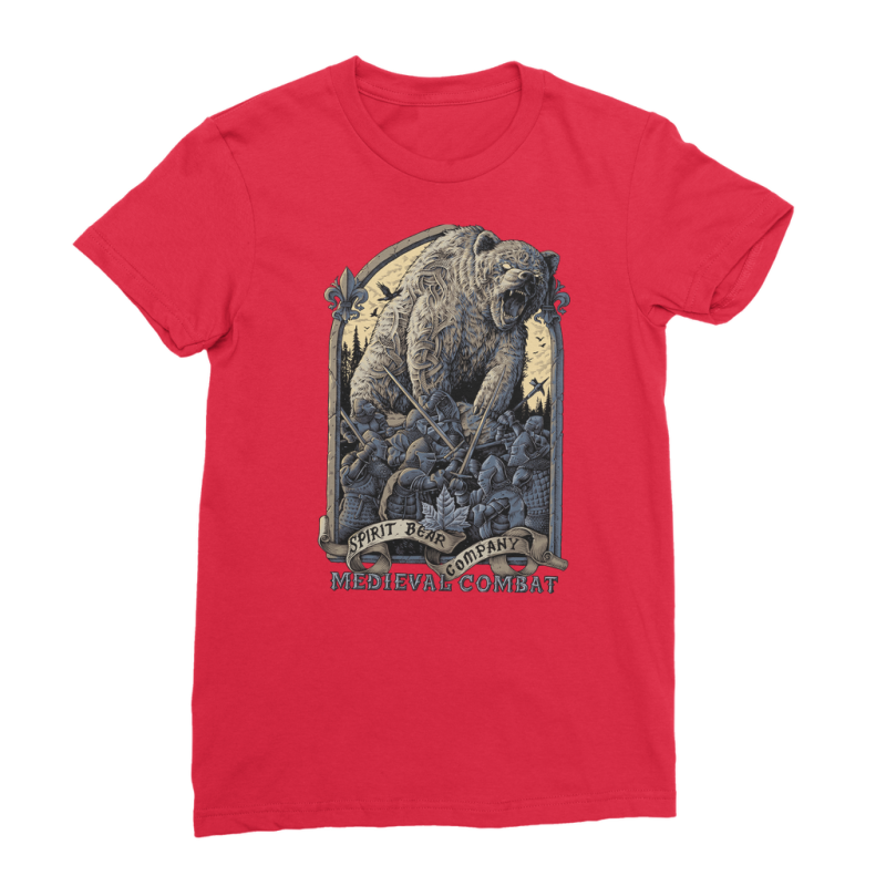 Spirit Bear Company - Medieval Combat Premium Jersey Womens T-Shirt - Red / Female / S - Apparel Apparel