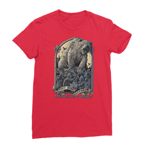 Image of Spirit Bear Company - Medieval Combat Premium Jersey Womens T-Shirt - Red / Female / S - Apparel Apparel