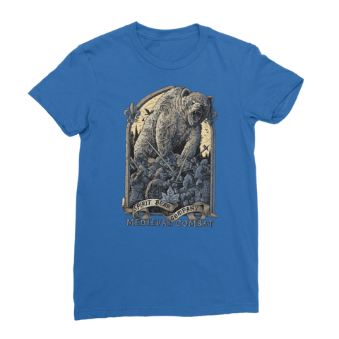 Image of Spirit Bear Company - Medieval Combat Premium Jersey Womens T-Shirt - Royal Blue / Female / S - Apparel Apparel