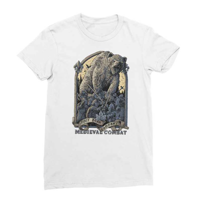 Spirit Bear Company - Medieval Combat Premium Jersey Womens T-Shirt - White / Female / S - Apparel Apparel