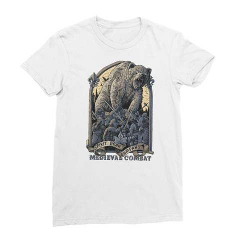 Image of Spirit Bear Company - Medieval Combat Premium Jersey Womens T-Shirt - White / Female / S - Apparel Apparel