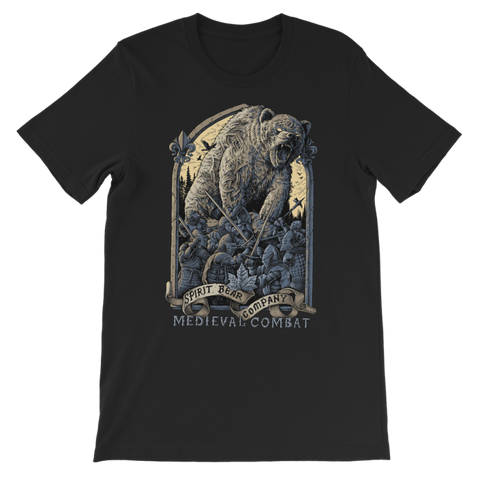 Image of Spirit Bear Company - Medieval Combat Premium Kids T-Shirt - Black / 3 To 4 Years - Apparel Apparel Spiritbear