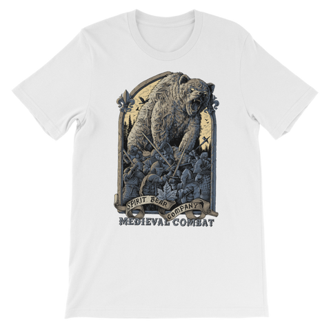 Image of Spirit Bear Company - Medieval Combat Premium Kids T-Shirt - White / 3 To 4 Years - Apparel Apparel Spiritbear