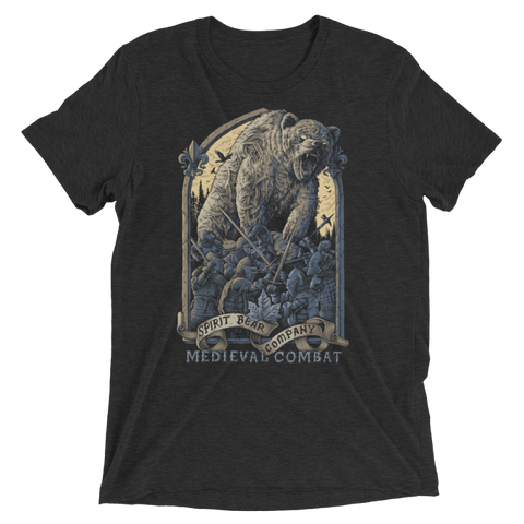 Image of Spirit Bear Company - Medieval Combat Shirt Triblend - Charcoal-Black Triblend / Xs - Apparel New-Arrivals Spirit Bear Company T-Shirt