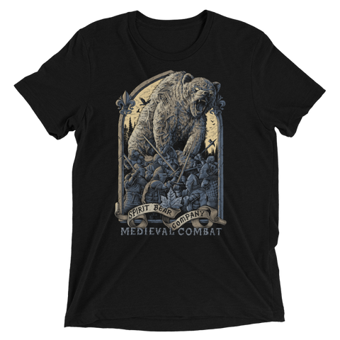 Image of Spirit Bear Company - Medieval Combat Shirt Triblend - Solid Black Triblend / Xs - Apparel New-Arrivals Spirit Bear Company T-Shirt