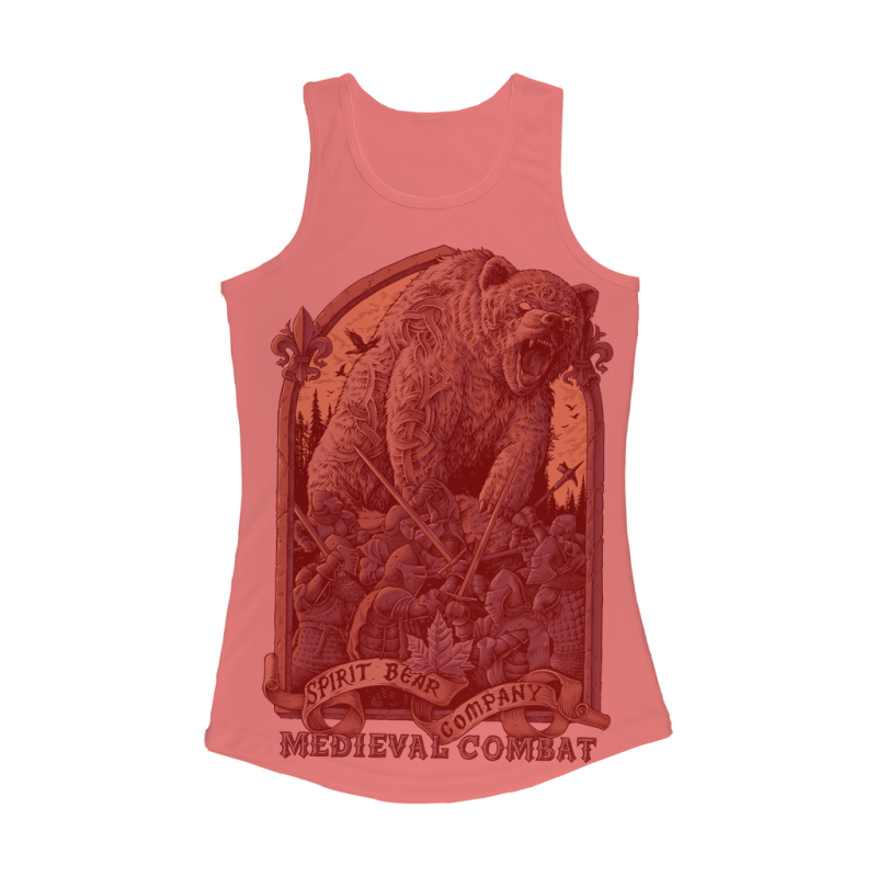 Spirit Bear Company - Medieval Combat Women Performance Tank Top - Electric Pink / Xs - Apparel Apparel Spiritbear