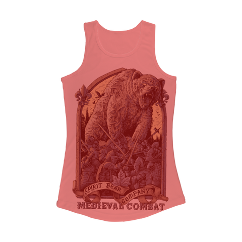 Image of Spirit Bear Company - Medieval Combat Women Performance Tank Top - Electric Pink / Xs - Apparel Apparel Spiritbear