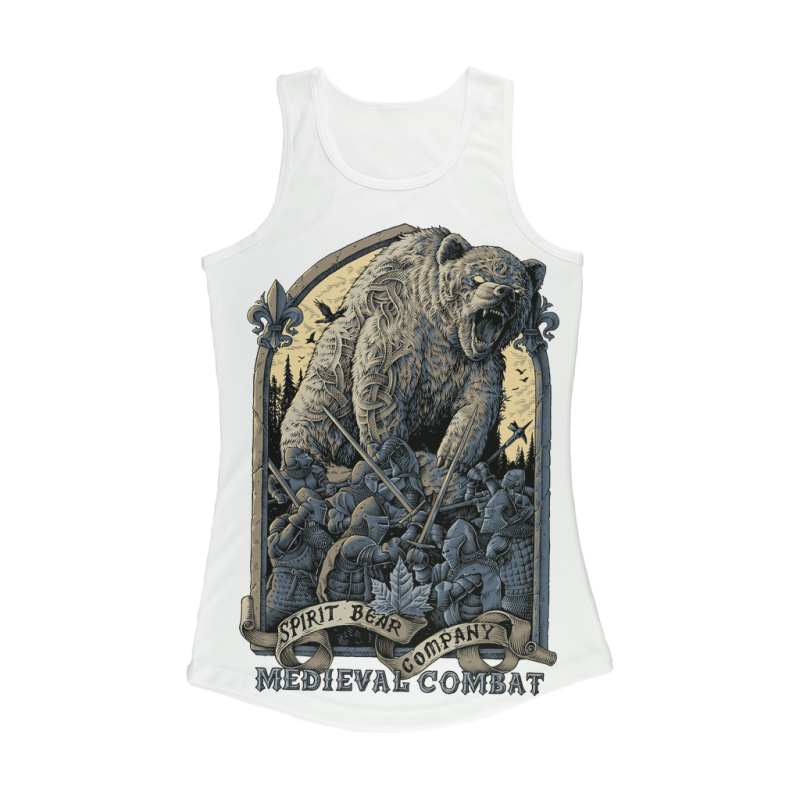 Spirit Bear Company - Medieval Combat Women Performance Tank Top - White / Xs - Apparel Apparel Spiritbear