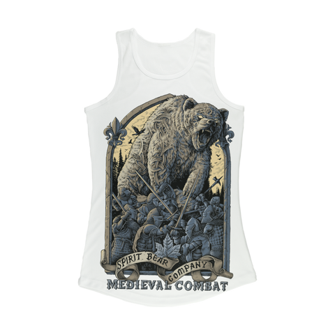 Image of Spirit Bear Company - Medieval Combat Women Performance Tank Top - White / Xs - Apparel Apparel Spiritbear