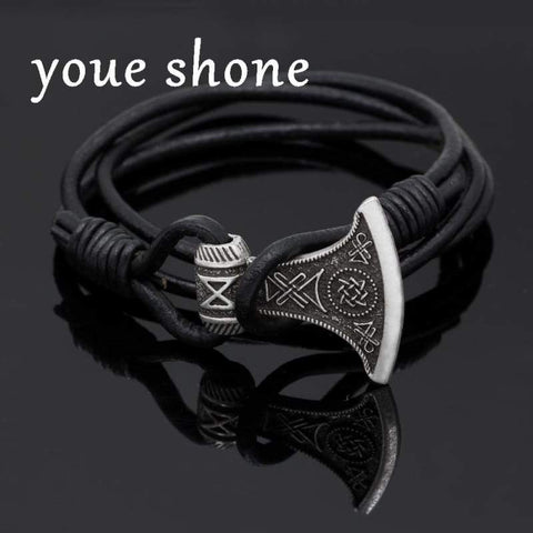 Talisman Real Leather Bracelet - Bracelet Vikings