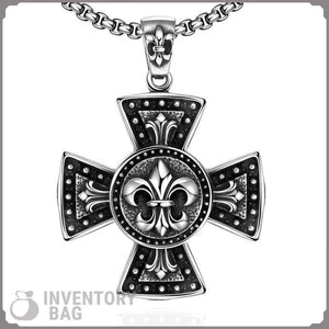 Templar Titanium Cross - Pendant Necklaces Jewelry Knights Necklace